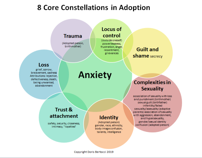 8 Core Constellations in Adoption Venn Diagram